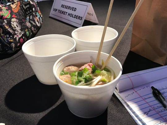 The pho tasting from Cafe Su at the Pho King Cook-Off.