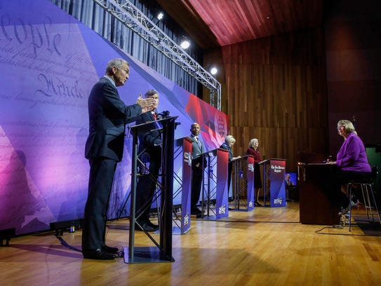Iowa democratic candidates field questions during the