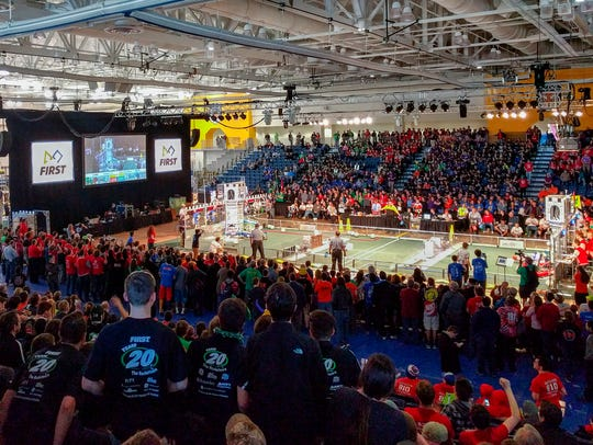 The playing field, right at the  FIRST Robotics Finger