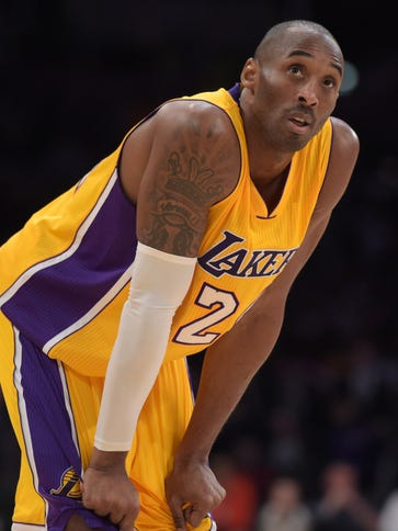 Lakers guard Kobe Bryant is a 37-year-old with two