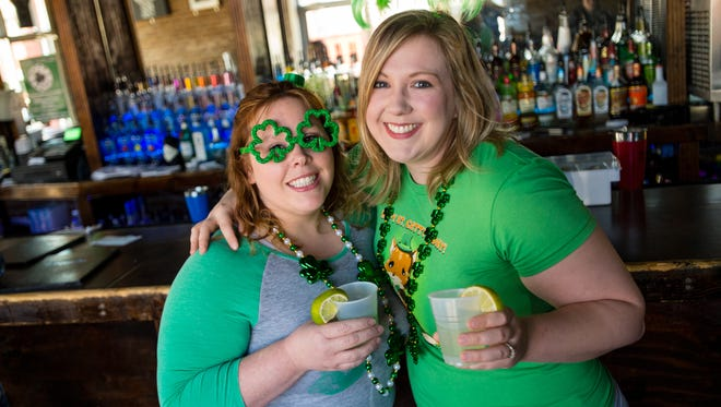 There are lots of ways to celebrate St. Patrick's Day in Louisiana. Abby Guillory, at left, and Megan Bergeron, are ready for a fun-filled St. Patrick's Day.