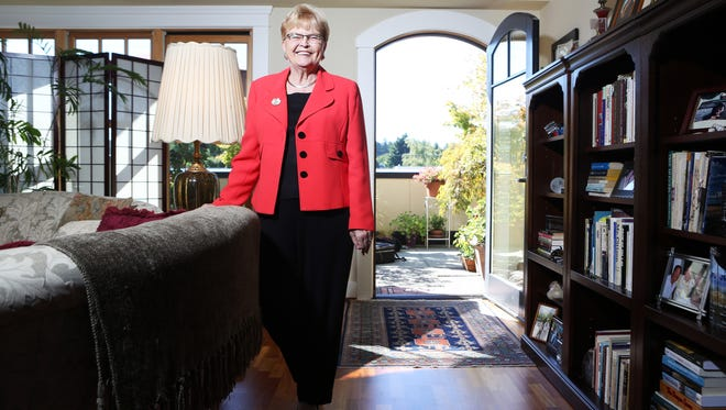 Former Gov. Barbara Roberts, here at her Portland home, is still a force in Oregon politics.