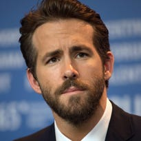Canadian actor Ryan Reynolds, pictured here at the 65th annual Berlin International Film Festival, in Berlin, Germany, was hit by a car in Vancouver on April 12, 2015. He was not injured.