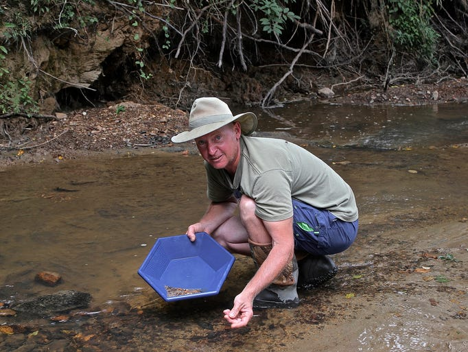 At the Alabama Gold Camp in Lineville, visitors can pan for the precious mineral in a creek.