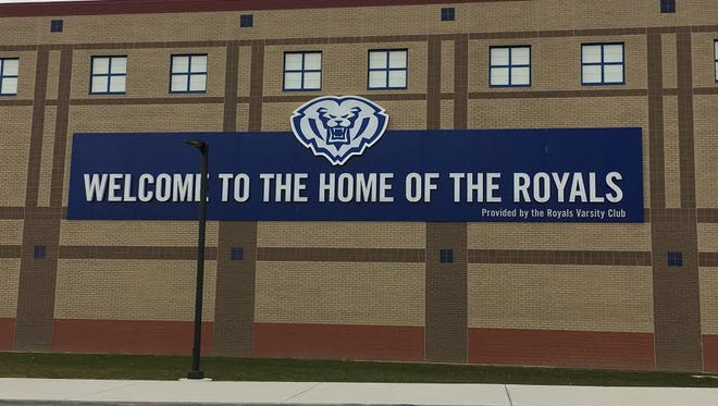 A sign on the side of Hamilton Southeastern High School