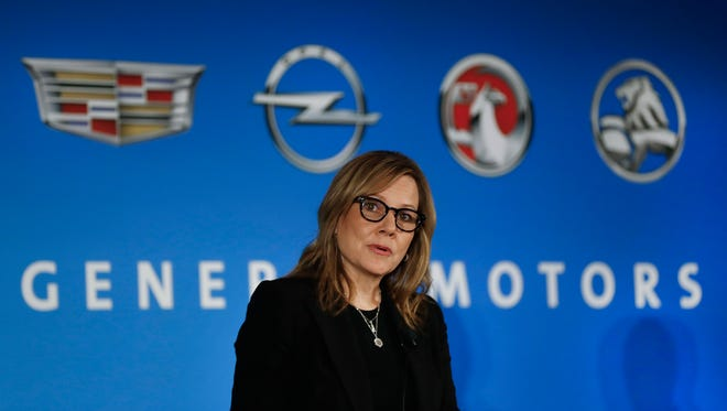 General Motors Chairman and CEO Mary Barra speaks about the financial outlook of the automaker in Detroit.