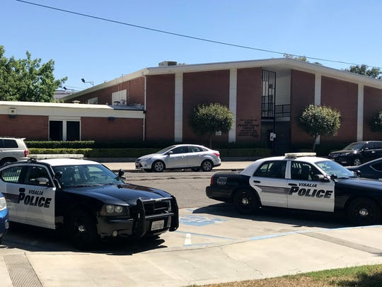 Police investigate reports of a stabbing at the Tulare