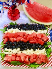 Red. White and Blue Summer Fruit Salad is a fun way