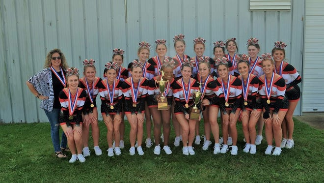 The Augusta Christian cheerleading team was honored with two state titles by the South Carolina Independent School Association in Game Time Fight Song and Game Time Dance.
