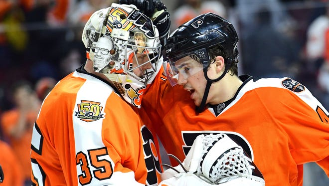 Steve Mason's 33-save shutout puts him third on the team's all-time games played list among goalies.