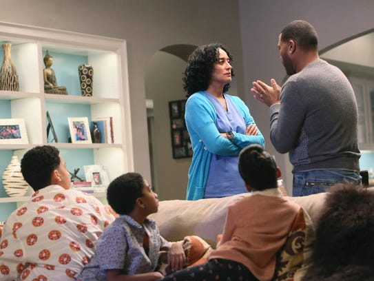 Bow (Tracee Ellis Ross) and Dre (Anthony Anderson)