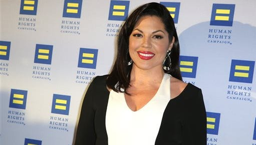 In this March 14, 2015 file photo, Sara Ramirez arrives at the 2015 Human Rights Campaign Gala Dinner at the JW Marriott LA Live in Los Angeles.