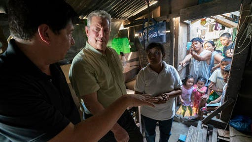 "This image released by the Sundance Institute shows Al Gore, second left, in a scene from ""An Inconvenient Sequel"" a film by Bonni Cohen and Jon Shenk. The film is an official selection of the Documentary Premieres program at the 2017 Sundance Film Festival."