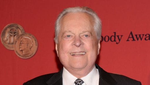 FILE - In this May 19, 2014 file photo, Robert Osborne attends the 73rd Annual George Foster Peabody Awards in New York.  Osborne, the genial face of Turner Classic Movies and a walking encyclopedia of classic Hollywood, has died. He was 84.  A publicist for the network said he passed away Monday, March 6, 2017 in New York.