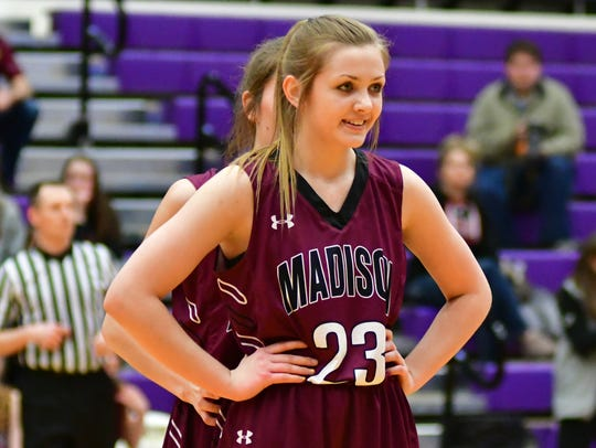 Madison's Maddie Gerry smiles during a break in the