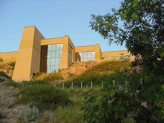 The Lewis and Clark Interpretive Center is near Giant Springs State Park.