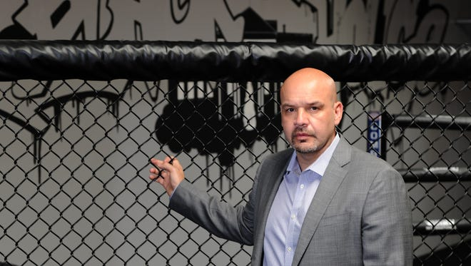 LFA CEO Ed Soares photographed in his Black House Gym in Alondra, Calif., in 2013.