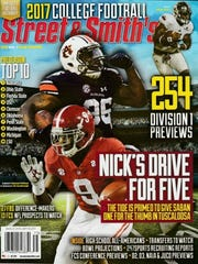 Kamryn Pettway (36) is on the cover of Street & Smith's 2017 college football preview magazine.