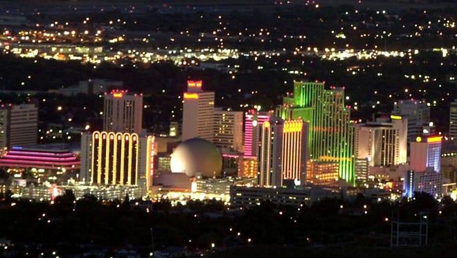 Downtown Reno's skyline.