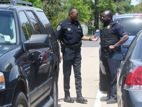 Shreveport Police Department Chief Alan Crump, left,