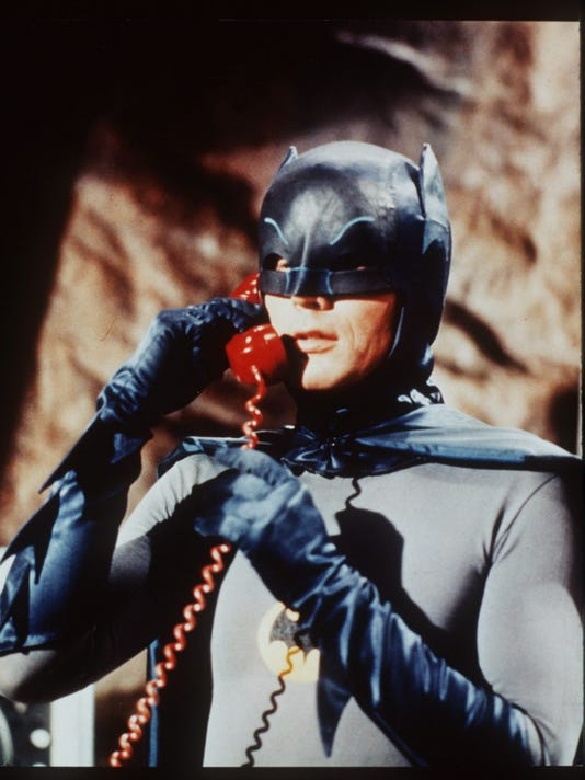Batman on the Bat Phone
