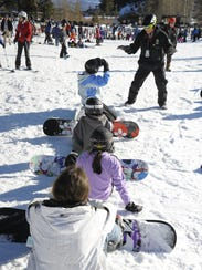 Snowboarding lessons at Sky Tavern.