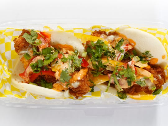 The Bento Box's Battered Chicken Steamed Buns Sliders: Asian mash-up at its best.