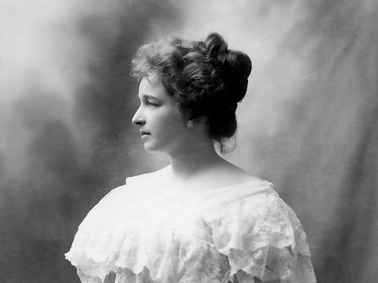 Jessica Stewart, (1871-1982), c. 1890s. She was the future Mrs. Charles M. Swift. Photo by By A.J. Schillare, Northampton, Mass.