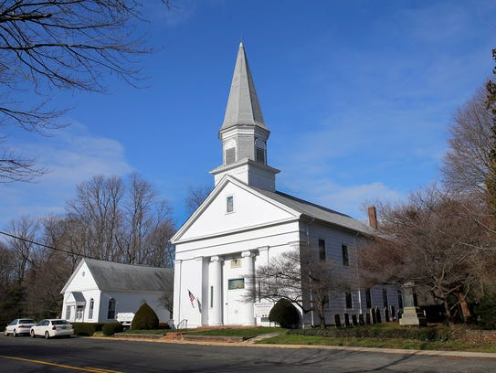 Exterior of The Old First Baptist Church in Middletown