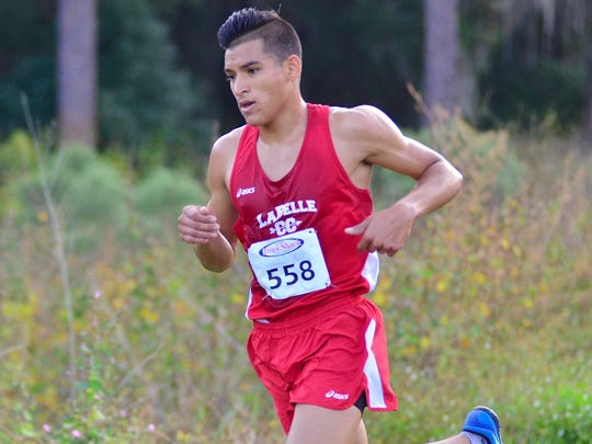 LaBelle's Yoan Prado competes in the Region 2A-3 meet