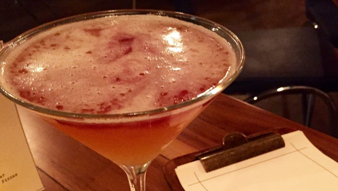 The New York Sour cocktail at Pine and Oak in Ossining.