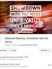 Iowa CCI promotes a Dec. 5 public forum about Iowa's