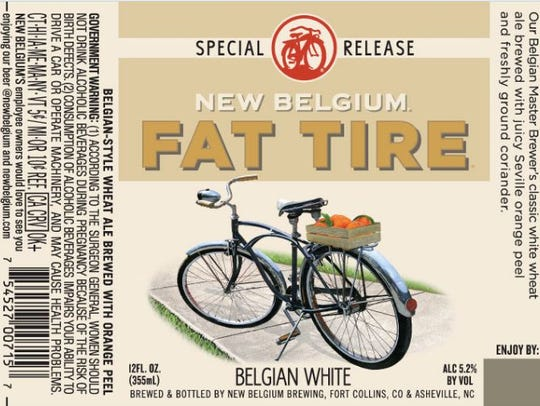 The label for the new Fat Tire Belgian White, which