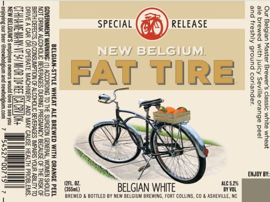 The label for the new Fat Tire Belgian White, which is brewed in the same style as Blue Moon and Shock Top.