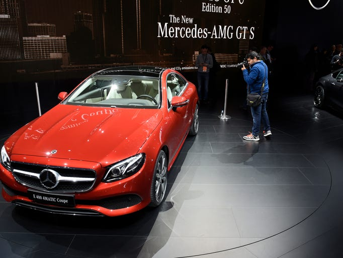 Mercedes-Benz showed off the E400 4MATIC Coupe, among