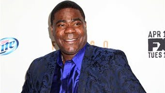 """Actor Tracy Morgan attends the FX Networks Upfront premiere screening of """"Fargo"""" at the SVA Theater in this file photo taken in New York. Morgan is in critical condition at a hospital in New Brunswick, NJ Saturday morning June 7, 2014 following a violent multi-vehicle crash on the NJ Turnpike overnight."""