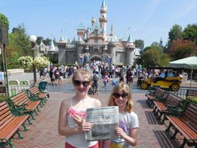 Jessica and Corrinne Shaker start a three-day adventure at Disneyland in California with their parents Tom and Tammy Shaker. While on the West Coast in June, they visited friends and toured Sea World and the San Diego Zoo. They also saw dolphins on an ocean tour and went to the Huntington beach: Surf City where they played in the surf and sand.