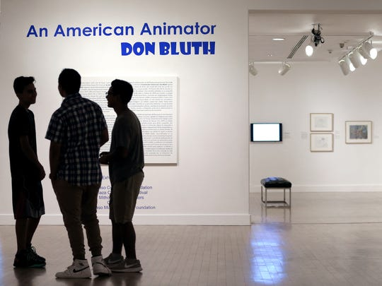 """""""An American Animator: Don Bluth"""" is on display at the El Paso Museum of Art through Sept. 7. The exhibit of animations by the El Paso-born artist run in conjunction with the Plaza Classic Film Festival."""