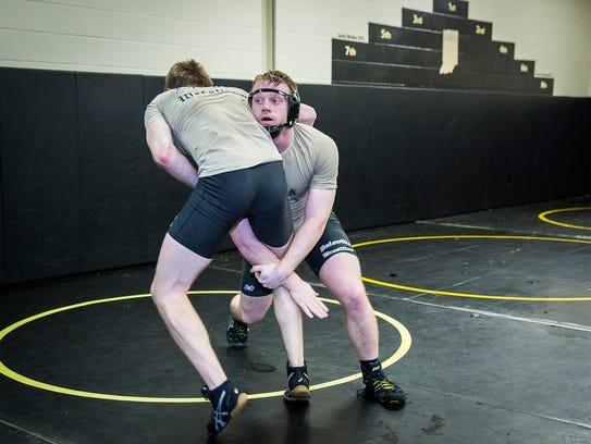 Corbin Maddox prepares for semi-state during practice