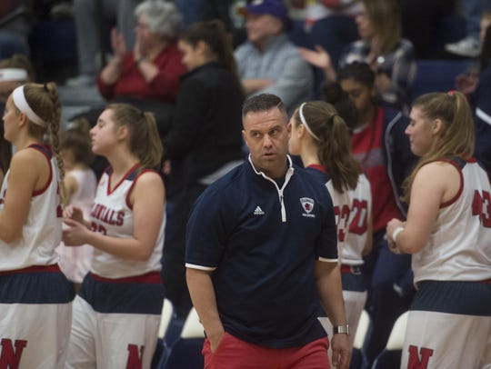 James Kunkle spent two seasons as the New Oxford girls'