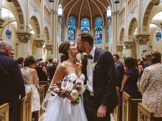 Mr. and Mrs. Butch Roussel married on May 26 at St. John Cathedral.