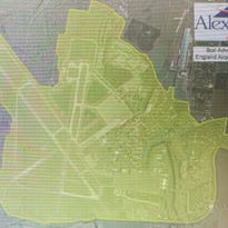 The area highlighted in yellow is the England AIrpark/Billy Mitchell Blvd. area in Alexandria and is under a water boil advisory until further notice.