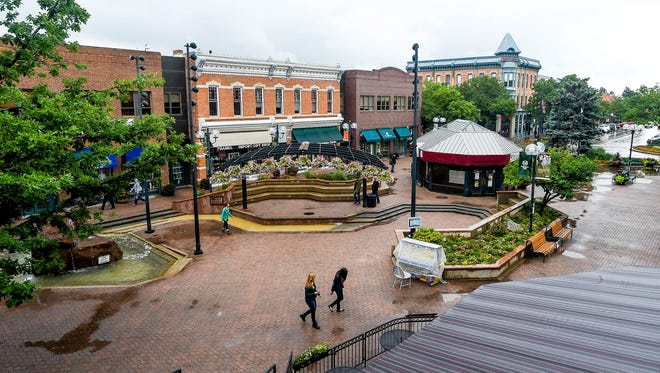 Renovation of Old Town Square, seen Wednesday, will upgrade aging infrastructure and move some iconic fixtures, including the stage and fountain.