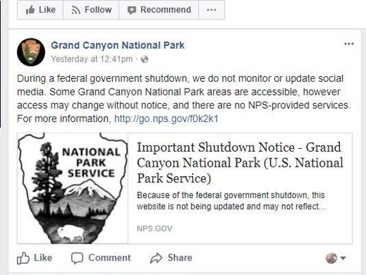 GrandCanyonNatParkFacebookmessage