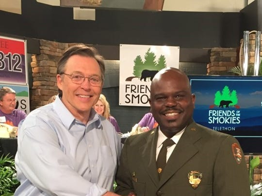 Larry Blunt emceed the Friends of the Smokies Mountain Telethon in 2016, as he did each year.