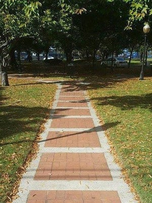 The blocks of bricks on the Proprietors Park Walk will be replaced with bricks bearing the names of townspeople past and present to raise money for Gloucester City's 150th anniversary celebration events in 2018.