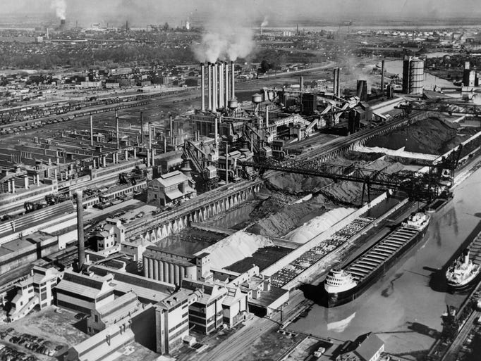 River Rouge Plant >> Ford Rouge plant through the years