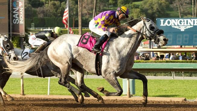 Kobe's Back broke better Saturday and ran late to win Santa Anita's Grade II San Carlos.