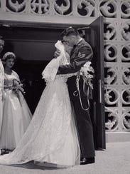 Vivian and Johnny Cash married in San Antonio, Texas,