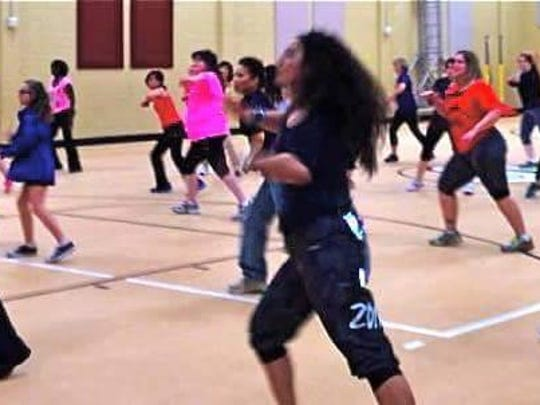 Contessa Ratcliff, owner of Zumba Shreveport, teaches fitness through dance at Zumbathon.